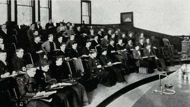 Historic photo of Berkeley women students studying
