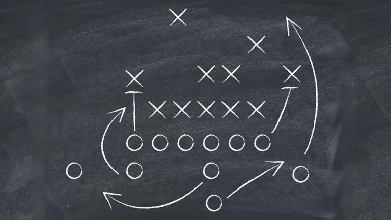 graphic of a sports game plan