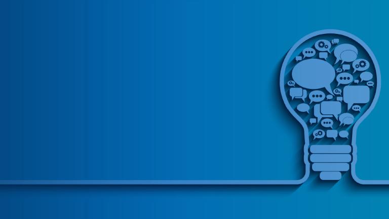 Customer Obsessed Design hero image_blue lightbulb