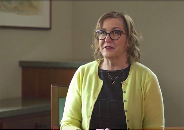 Professor Maura O'Neill talking in an interview