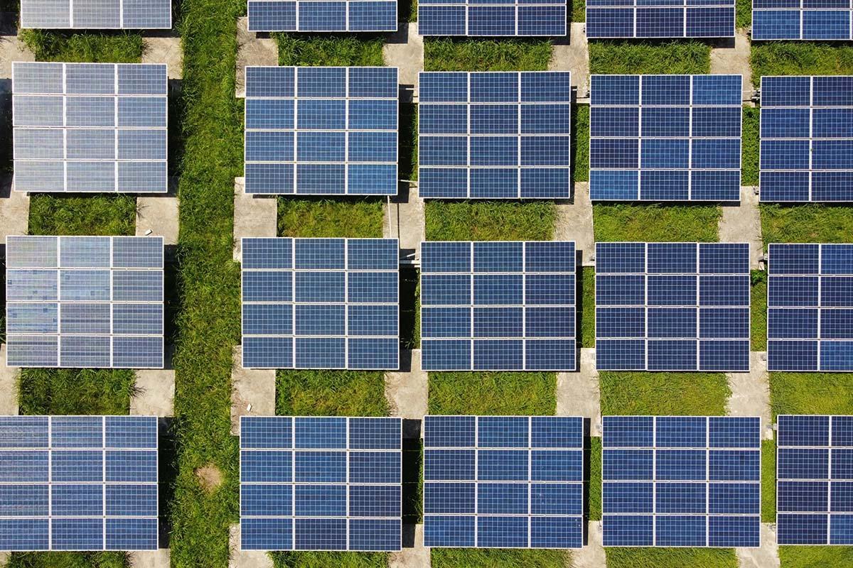 aeriel pic of solar panels
