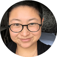 Circular image of faculty member, Michelle Jia