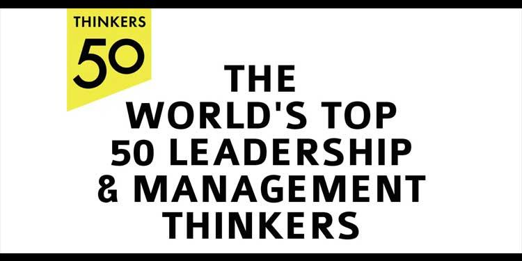graphic that reads the World's Top 50 Leadership & Management Thinkers